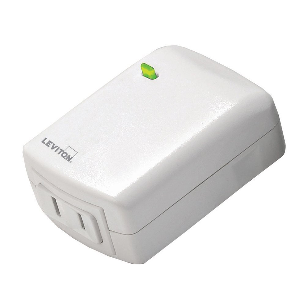Leviton DZPD3-1LW Decora Z-Wave Controls 300-Watt LED/CFL Compatible ...